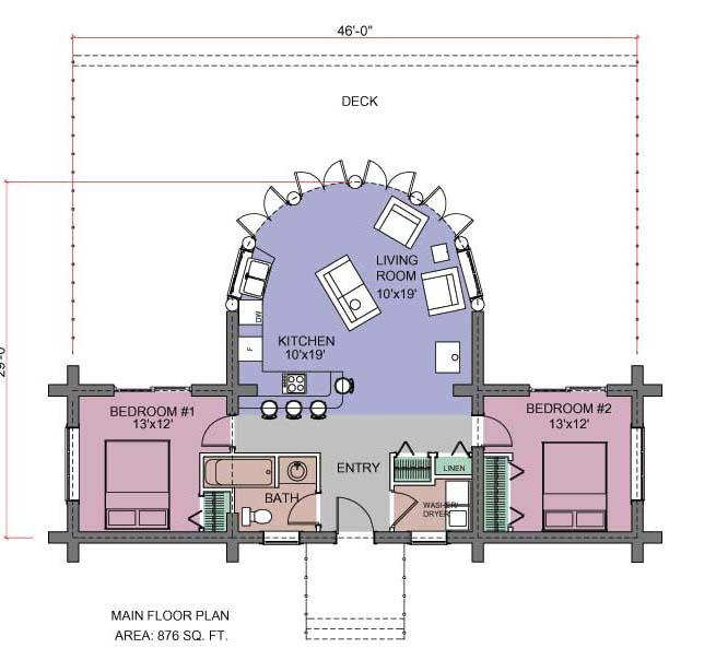 Slokana Log Home Log Cabin Floor Plans Under 1500 Sq Ft